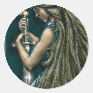 Freya by David Barlow Classic Round Sticker