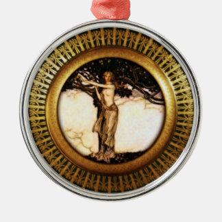 Freya Gold Round Metal Christmas Ornament