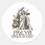 Freya Pegatinas Redondas