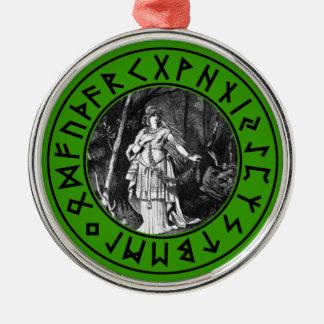 Freya Shield Metal Ornament