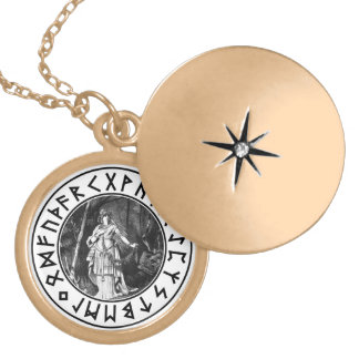 freya Shield Round Locket Necklace