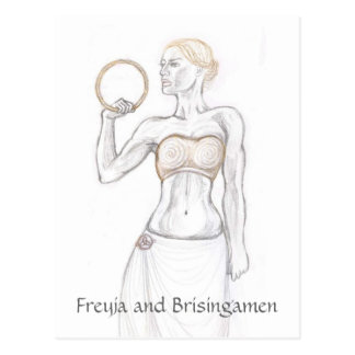 Freyja and Brisingamen Postcard