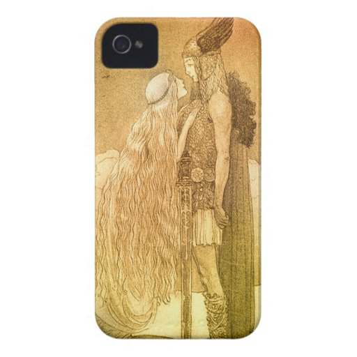 Freyja and Svipdag by John Bauer 1911 Blackberry Bold Covers