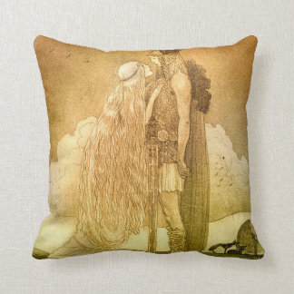 Freyja and Svipdag by John Bauer 1911 Throw Pillow