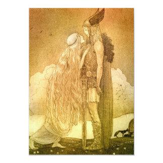 Freyja y Svipdag de Juan Bauer 1911 Invitación 12,7 X 17,8 Cm