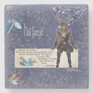 Freyr Blot Blessing Marble Altar Foci Stone Coaster