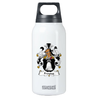 Freytag Family Crest 10 Oz Insulated SIGG Thermos Water Bottle