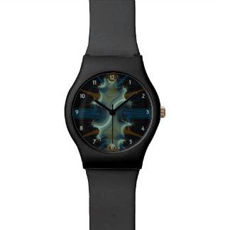 Frezando el fractal del escudo azul y marrón reloj