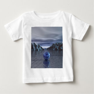 Frialdad azul playera de bebé