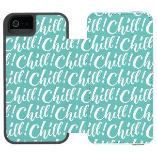 Frialdad - diseño de letras de la mano funda billetera para iPhone 5 watson