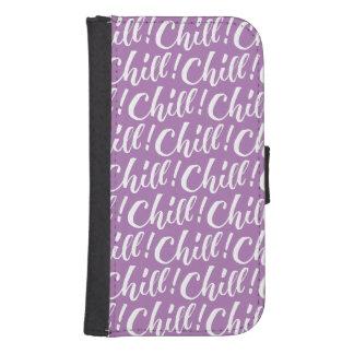 Frialdad - diseño de letras de la mano fundas billetera para teléfono