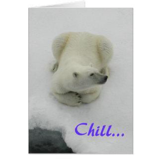 ¡Frialdad… va a ser fino Oso polar Tarjetón