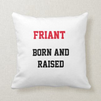 Friant Born and Raised Throw Pillow
