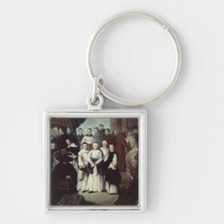 Friars in Venice Silver-Colored Square Keychain