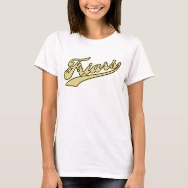 Beach Themed Friars Script T-Shirt