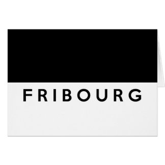 fribourg province Switzerland swiss flag text Greeting Cards