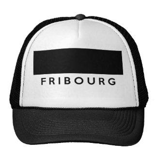 fribourg province Switzerland swiss flag text Trucker Hat