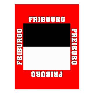 Fribourg Switzerland Canton Flag Postcard