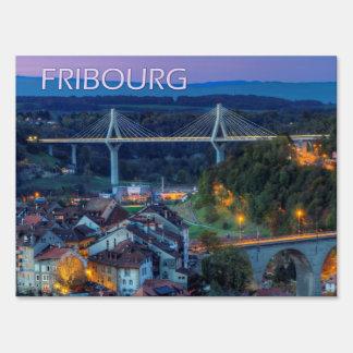 Fribourg, Switzerland Sign