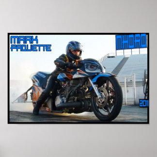Fricción de la motocicleta de Turbo que compite co Póster
