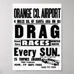 Fricción del aeropuerto del Condado de Orange del  Poster