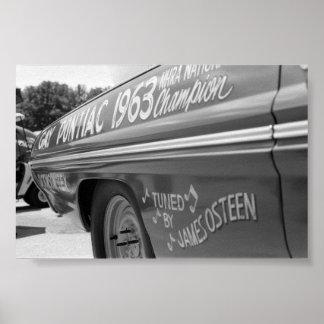 Fricción del vintage - campeón 1963 póster