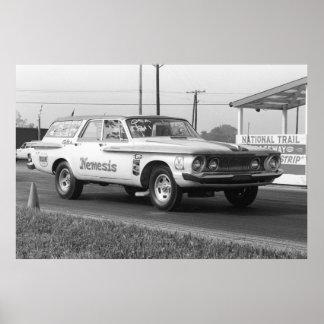 Fricción del vintage - carro de 1962 Dodge - Némes Póster