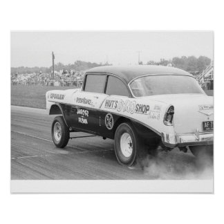 Fricción del vintage - Dyno '56 Chevy Gasser de la Póster