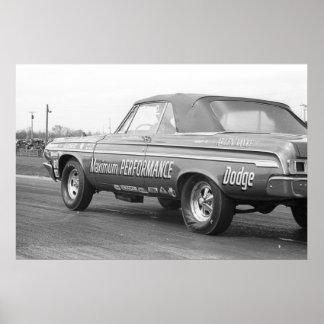 Fricción del vintage - máximo rendimiento 1964 Dod Póster