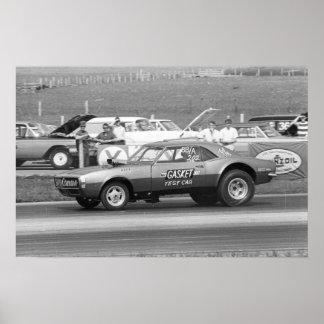 """Fricción del vintage - Sr. Gasket """"coche de prueba Póster"""