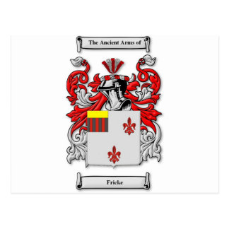 Fricke Coat of Arms Postcard