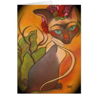 Frida Cat Greeting Card