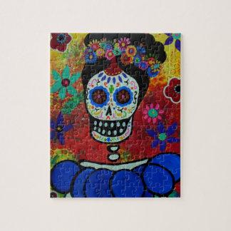 Frida Dia de Los Muertos Puzzle