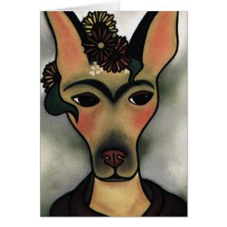 Frida in flowers card