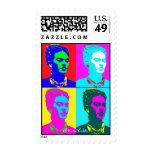 Frida Kahlo Andy Warhol Inspired Portrait Postage Stamp