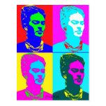Frida Kahlo Andy Warhol Inspired Portrait Postcards
