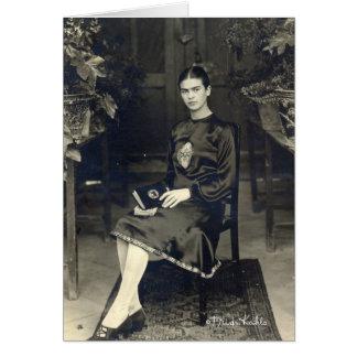 Frida Kahlo asentó Tarjeta