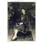 Frida Kahlo asentó Tarjeta De Felicitación