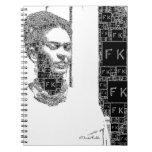 Frida Kahlo Black and White Portrait Notebook