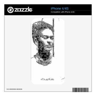 Frida Kahlo Black and White Portrait Skins For The iPhone 4S