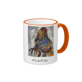 Frida Kahlo Butterfly Monet Inspired Ringer Coffee Mug