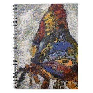 Frida Kahlo Butterfly Monet Inspired Notebook