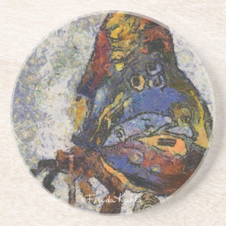 Frida Kahlo Butterfly Monet Inspired Sandstone Coaster