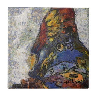 Frida Kahlo Butterfly Monet Inspired Small Square Tile