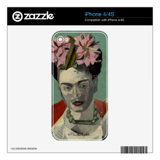 Frida Kahlo by Garcia Villegas Decal For The iPhone 4S