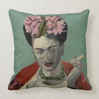 Frida Kahlo by Garcia Villegas Throw Pillows