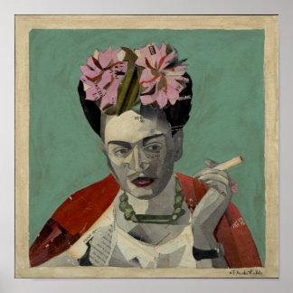 Frida Kahlo by Garcia Villegas Poster