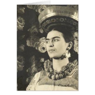 Frida Kahlo con Charola Original Greeting Card
