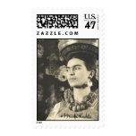 Frida Kahlo con Charola Original Postage Stamp
