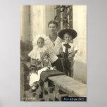 Frida Kahlo con los niños Póster